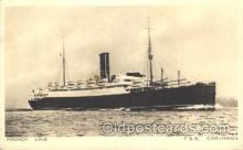 shi024021 - T.S.S. Cameronia Anchor - Donaldson Line, Lines Ship Ships Postcard Postcards