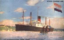 shi025009 - S.S. Minnekahda Atlantic Transport Line, Lines, Ship Ships Postcard Postcards