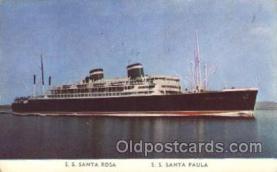 shi028005 - S.S Santa Rosa, S.S. Santa Paula Grace Line, Lines Ship Ships Postcard Postcards