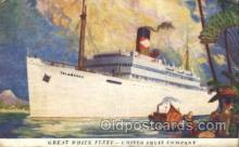 shi029004 - Great White Fleet Great White Line, Lines, Ship Ships Postcard Postcards