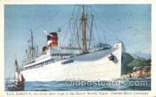 shi029010 - T.E.S. Jamaica Great White Line, Lines, Ship Ships Postcard Postcards