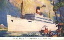 shi029012 - Great White Fleet Great White Line, Lines, Ship Ships Postcard Postcards