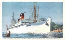 shi029015 - T.E.S. Antigua Great White Line, Lines, Ship Ships Postcard Postcards