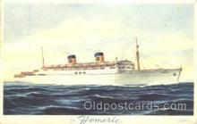 shi030007 - S.S. Homeric Homelines, Home Lines, Line, Ship Ships Postcard Postcards