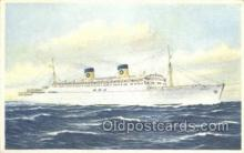 shi030025 - SS Homeric Home Lines, Ship, Ships, Postcard Postcards