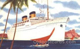 shi032004 - Matsonia Matson Lines Ship Ships Postcard Postcards