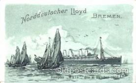 shi035004 - Main Norddeutscher Lloyd Ship Ships Postcard Postcards