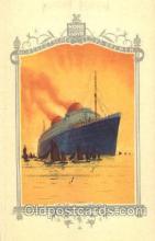 shi035501 - Menu's of NordDeutscher Lloyd Bremen Ship Ships Postcard Postcards