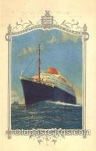 shi035502 - Menu's of NordDeutscher Lloyd Bremen Ship Ships Postcard Postcards
