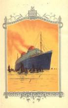 shi035503 - Menu's of NordDeutscher Lloyd Bremen Ship Ships Postcard Postcards