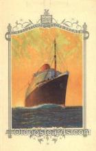 shi035504 - Menu's of NordDeutscher Lloyd Bremen Ship Ships Postcard Postcards