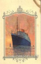 shi035505 - Menu's of NordDeutscher Lloyd Bremen Ship Ships Postcard Postcards