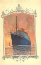 shi035508 - Menu's of NordDeutscher Lloyd Bremen Ship Ships Postcard Postcards