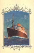 shi035510 - Menu's of Nord Deutscher Lloyd Bremen Ship Ships Postcard Postcards