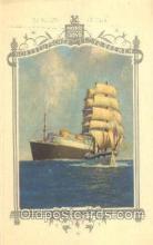 shi035511 - Menu's of Nord Deutscher Lloyd Bremen Ship Ships Postcard Postcards
