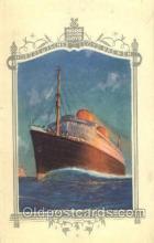 shi035512 - Menu's of Nord Deutscher Lloyd Bremen Ship Ships Postcard Postcards