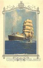 shi035513 - Menu's of Nord Deutscher Lloyd Bremen Ship Ships Postcard Postcards