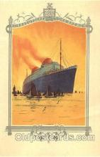 shi035515 - Menu's of Nord Deutscher Lloyd Bremen Ship Ships Postcard Postcards