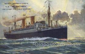 shi035520 - SS Muenchen Norddeutscher Lloyd, Breman, Ship Postcard Postcards