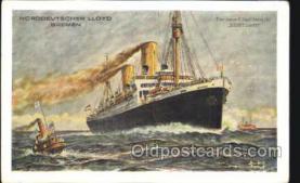 shi035521 - Stuttgart Norddeutscher Lloyd, Breman, Ship Postcard Postcards