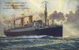 shi035523 - SS Muenchen Norddeutscher Lloyd, Breman, Ship Postcard Postcards