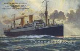 shi035524 - SS Muenchen Norddeutscher Lloyd, Breman, Ship Postcard Postcards