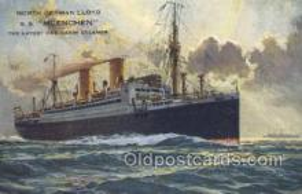 shi035572 - SS Muenchen Norddeutscher Lloyd, Breman, Ship Postcard Postcards