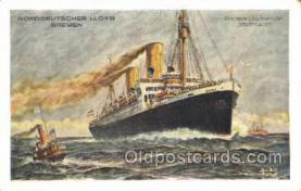 shi035574 - D Stuttgart Norddeutscher Lloyd, Breman, Ship Postcard Postcards