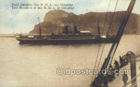 shi035575 - Gibraltar Norddeutscher Lloyd, Breman, Ship Postcard Postcards