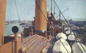 shi035578 - Bootsdeck Eines Oceanriesen Norddeutscher Lloyd, Breman, Ship Postcard Postcards