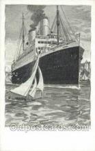 shi035584 - Artist Bernd Steiner Norddeutscher Lloyd, Breman, Ship Postcard Postcards