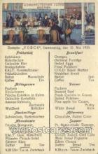 shi035590 - Menu Norddeutscher Lloyd, Breman, Ship Postcard Postcards