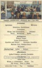 shi035591 - Menu Norddeutscher Lloyd, Breman, Ship Postcard Postcards
