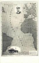 shi035592 - Map Norddeutscher Lloyd, Breman, Ship Postcard Postcards