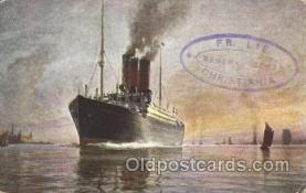shi036006 - Det forenede Dampskibs-Selskab Scandanavian American Line, Ship Ships Postcard Postcards