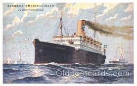 shi038003 - T.S. Drottningholm Svenska Amerika Linien, Line, Lines, Ship Ships Postcard Postcards