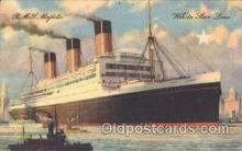 shi042007 - R.M.S. Majestic White Star Line, Lines, Liner, Ship Ships Postcard Postcards