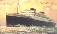 shi042013 - M.V. Georgic White Star Line, Lines, Liner, Ship Ships Postcard Postcards