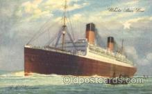 shi042017 - R.M.S. Homeric White Star Line, Lines, Liner, Ship Ships Postcard Postcards