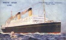 shi042019 - R.M.S. Homeric White Star Line, Lines, Liner, Ship Ships Postcard Postcards