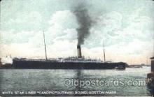 shi042027 - Canopic outward Bound, Boston, USA White Star Line, Lines, Liner, Ship Ships Postcard Postcards