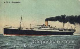 shi042029 - R.M.S. Megantic White Star Line, Lines, Liner, Ship Ships Postcard Postcards
