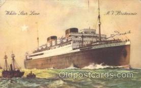 shi042032 - M.V. Britannic White Star Line, Lines, Liner, Ship Ships Postcard Postcards