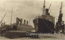 shi042038 - White Star Olympic Ship Postcard Post Card Sister Ship of the Titanic Ship