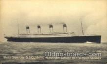 shi042043 - White Star Olympic Ship Postcard Post Card Sister Ship of the Titanic Ship