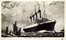 shi042045 - White Star Olympic Ship Postcard Post Card Sister Ship of the Titanic Ship