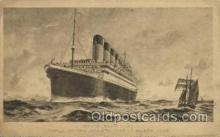 shi042047 - White Star Olympic Ship Postcard Post Card Sister Ship of the Titanic Ship