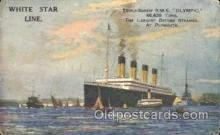 shi042049 - White Star Olympic Ship Postcard Post Card Sister Ship of the Titanic Ship
