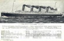 shi042051 - White Star Olympic Ship Postcard Post Card Sister Ship of the Titanic Ship