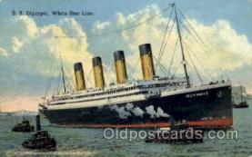 shi042057 - White Star Olympic Ship Postcard Post Card Sister Ship of the Titanic Ship